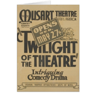 Twilight of the Theater Card