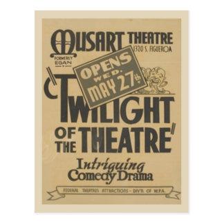 Twilight of the Theater Postcard