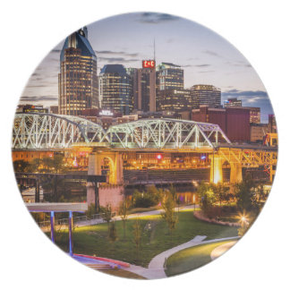 Twilight over Cumberland Park and downtown Dinner Plate