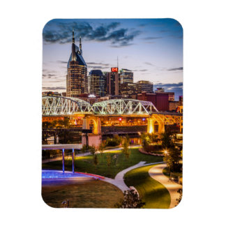 Twilight over Cumberland Park and downtown Rectangular Photo Magnet