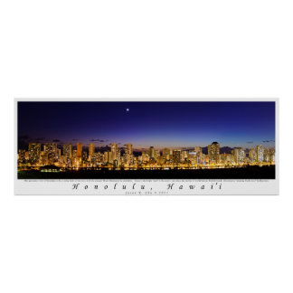 Twilight Over Waikiki Poster