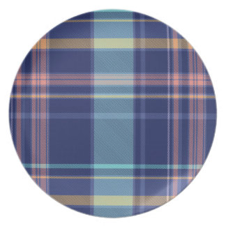 Twilight Plaid Plates