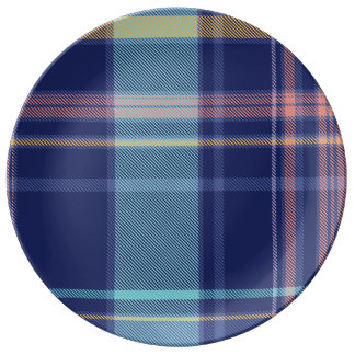 Twilight Plaid Porcelain Plates