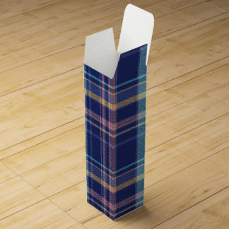 Twilight Plaid Wine Gift Box
