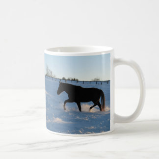 Twilight snow coffee mug