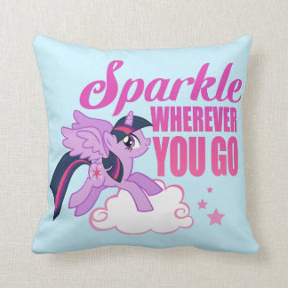 Twilight Sparkle | Sparkle Wherever You Go Throw Pillow