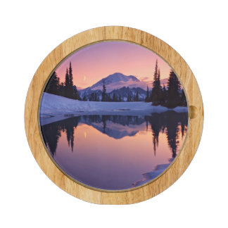 Twilight, Tarn and Crescent Moon Rectangular Cheese Board