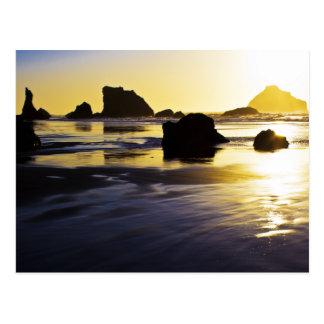 Twilight Time - Face Rock, Bandon, Oregon Postcard