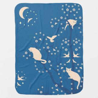 Twilight Tomcats Baby Blanket
