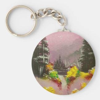 Twilight Tranquillity Basic Round Button Keychain