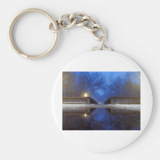 Twilight Walk Basic Round Button Keychain