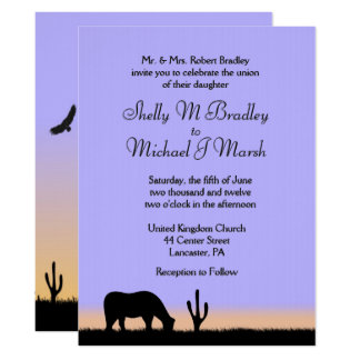 Twilight Western Wedding Invitation