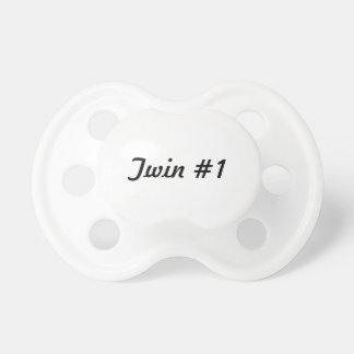 Twin #1 pacifier