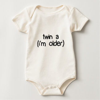 twin a (i'm older) baby bodysuit