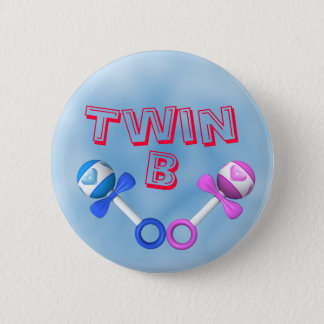 Twin B Button (blue)