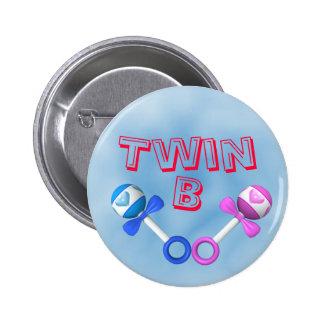Twin B Button (blue)