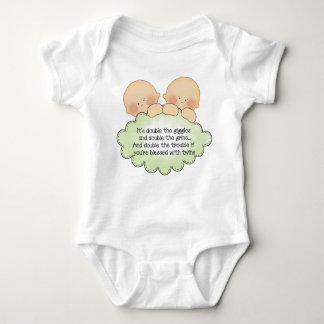 Twin Baby poen unisex bodysuit