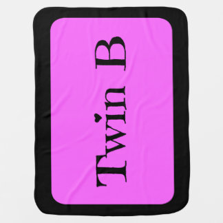 Twin Baby Shower Gifts - Twin B Blanket Pink/Black Baby Blankets