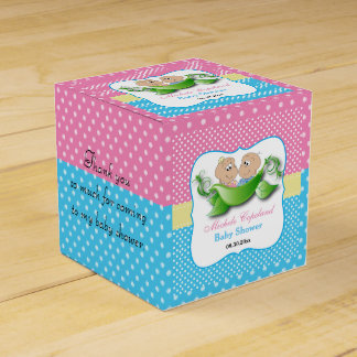 Twin Baby Shower - Two Peas In A Pod Favor Box