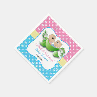 Twin Baby Shower - Two Peas In A Pod Paper Napkin