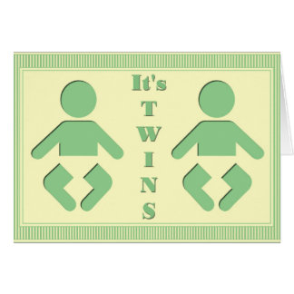 Twin Baby Silhouette Card