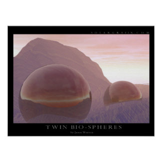 Twin Bio-spheres Print