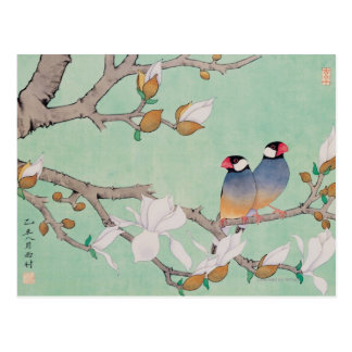 Twin Birds in the Branches Postcard