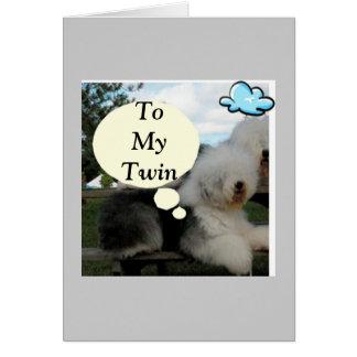 TWIN BIRTHDAY WITH TALKING SHAGGY DOG CARD