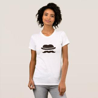 Twin bowler moustache T-Shirt