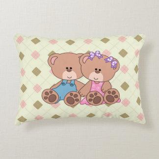 Twin Boy and Girl Bear Decorative Pillow