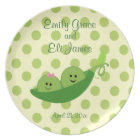 Twin Boy and Girl Celebration Plate