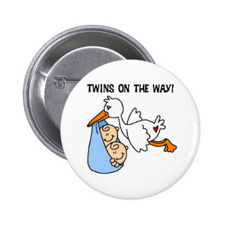 Twin Boys on the Way 2 Inch Round Button
