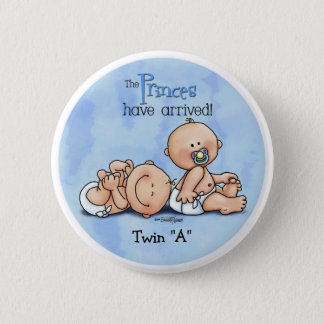 Twin Boys - Royal Princes 2 Inch Round Button