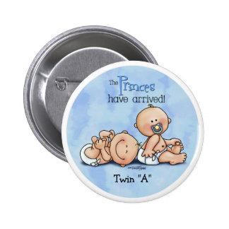 Twin Boys - Royal Princes 2 Inch Round Button
