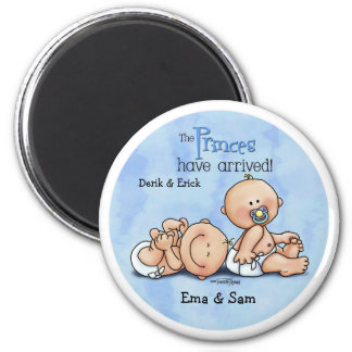 Twin Boys - Royal Princes 2 Inch Round Magnet