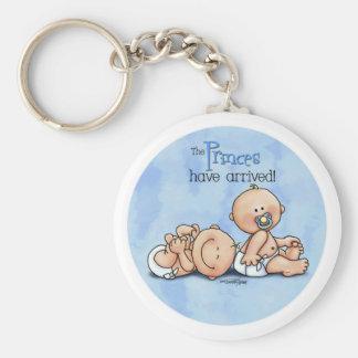 Twin Boys - Royal Princes Basic Round Button Keychain
