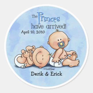 Twin Boys - Royal Princes Round Sticker