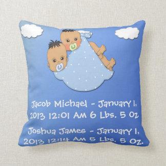 Twin Boys - Stork Keepsake Pillow