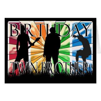 Twin Brother Birthday Card Male Modern