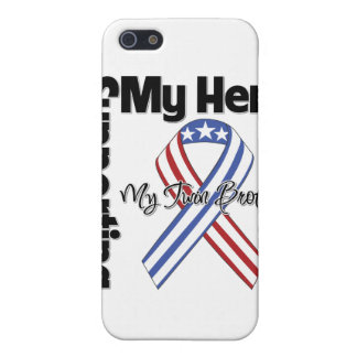 Twin Brother - Military Supporting My Hero iPhone 5 Cover