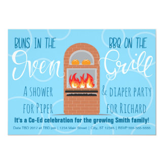 Twin Buns in the Oven/BBQ on the Grill Co-ed Party Card