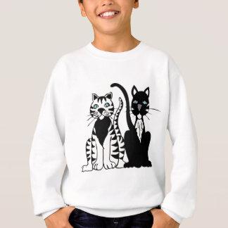 Twin Cartoon Cats Sweatshirt