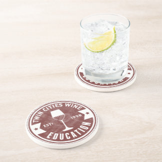 Twin Cities Wine Education Logo Coasters