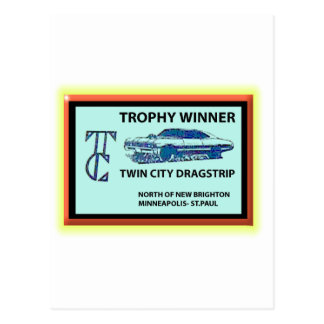 Twin City Dragstrip Postcard