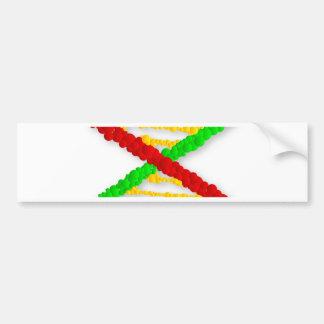 Twin DNA Strands Bumper Sticker