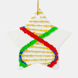Twin DNA Strands Ceramic Star Ornament