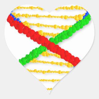 Twin DNA Strands Heart Sticker