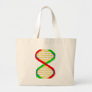 Twin DNA Strands Large Tote Bag