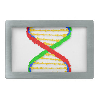 Twin DNA Strands Rectangular Belt Buckles