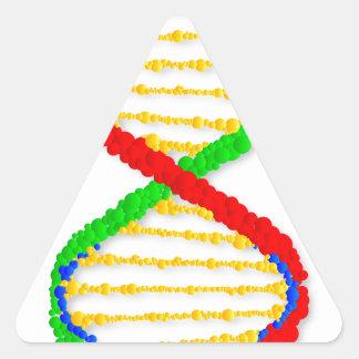 Twin DNA Strands Triangle Sticker